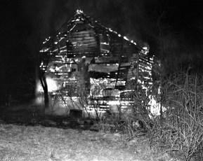 G'town Fire Lundgren Apartment House barn Main St. Feb. 1977 (1)