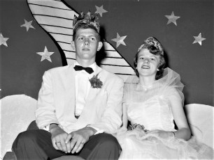 GCS Jr. Prom 1954 King James Potts Queen Judy Patterson (2)