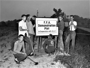 FFA student projects at GCS 1954