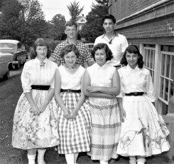 GCS High School  students who attended the Billy Graham Crusade in NYC 1957