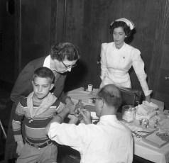GCS Salk (Polio) Vaccination Dr. Askue 1955
