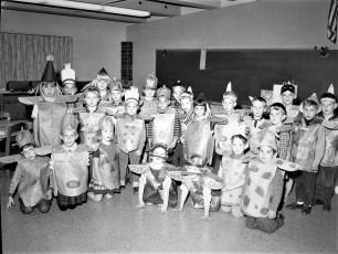 GCS Mrs Brown K Class Halloween Party 1966