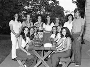 Scrodin Family & friends bid farewell to GCS exchange student Olga Alexious 1973