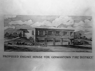 G'town Hose Co. No.1 Proposed Firehouse Drawing 1956