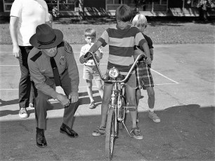 Bike Safety & Inspection by Dep. Sheriff Ted Chidester Greenport School 1972 (2)