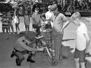 Bike Safety & Inspection by Dep. Sheriff Ted Chidester Greenport School 1972 (4)