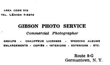 Howie's Business Card 1966