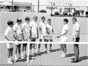 Hudson High School Men's Tennis Team 1967