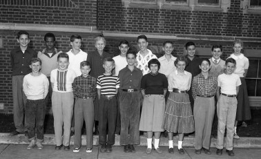 Hudson Jr. High School Miss. Thompson's Class 1954