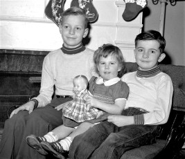 Chip, Holly and David Brown 1956