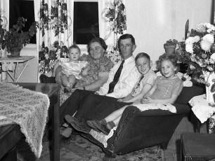 Edison & Emma (Denegar) Lasher family 1950