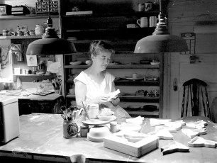 Louise Hager pottery studio G'town 1959