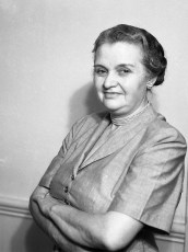 Mrs Eckert owner of the Central House 1951