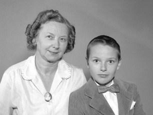 Mrs. Oehlke & son Vernon 1959