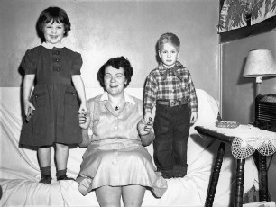 Mrs. Petrich and children 1951