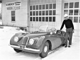 Warren Bohnsack with Jaguar 1954