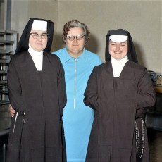Mildred Broast upon retirement from Carmelite Sister's Convent Clermont 1972