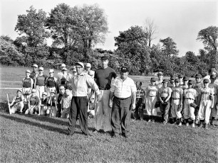 G'town L.L. Opening Day G'town Field 1st Pitch Al Marchisio 1960