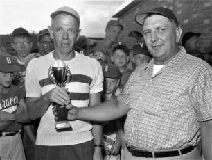 G'town LL All Star Game Day Awards Ham Klawson & Russ Schade 1961