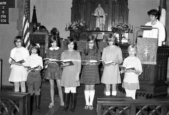 Christ's Lutheran Church group rehearsal for Xmas play Viewmont 1968