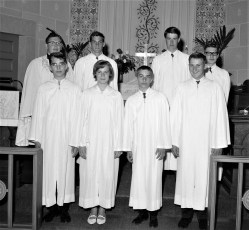 St. John's Lutheran Church Confirmation Manorton 1965