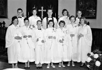 St. Paul's Lutheran Church Confirmation Red Hook 1957