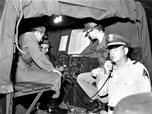 NYS Nationl Guard 152nd Engineer Battalion deploys to camp Hudson 1959