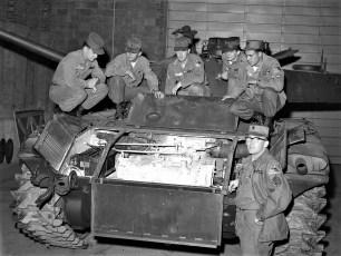 National Guardsmen with tank Hudson 1960