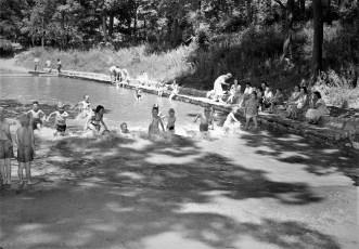 Oakdale Lake Lagoon Pool built by NYS National Guard Hudson 1956 (3)