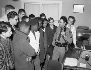 4H Club visits Claverack State Police Barracks 1965