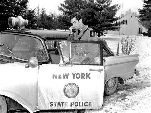 NYS Trooper on patrol Claverack 1959