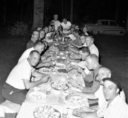 NYS Troopers Claverack & City of Hudson Police joint clam bake 1959 (2)