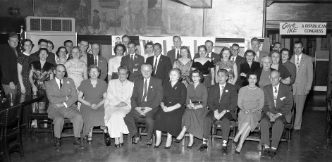 Republicans meet at the St. Charles Hotel Hudson 1956