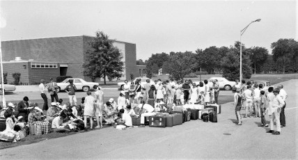 Red Hook School Fresh Air Children Arriving 1968