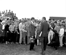 Red Hook School welcomes Sec. of the Interior Stewart Udall 1966 (2)