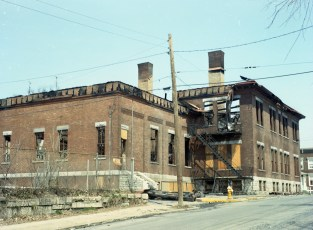 Demolition of St. Mary's Elementary after fire Hudson 1973 (3)