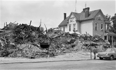 Demolition of St. Mary's Elementary after fire Hudson 1973 (9)