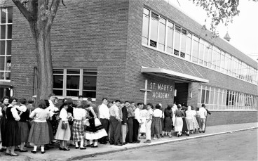St. Mary's Academy First Day of New School Hudson 1957 (2)
