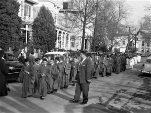 St. Mary's Academy laying and blessing the cornerstone May 6 1956 (4)