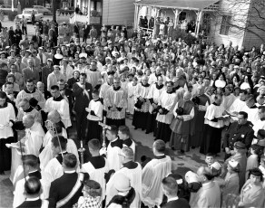 St. Mary's Academy laying and blessing the cornerstone May 6 1956 (5)
