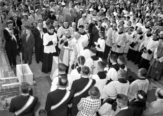 St. Mary's Academy laying and blessing the cornerstone May 6 1956 (6)