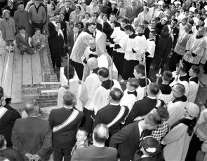 St. Mary's Academy laying and blessing the cornerstone May 6 1956 (7)