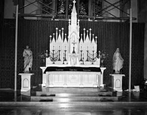 St. Mary's Church Altar Hudson Nov. 1956