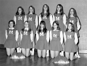 St. Mary's Elementary 8th Grade Cheerleaders Hudson 1971