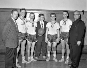 St. Mary's vs. St. John's at HHS Father Hart with Seniors 1956 (1)