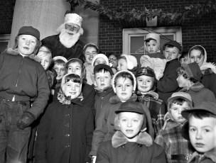 Chatham children with Santa 1954
