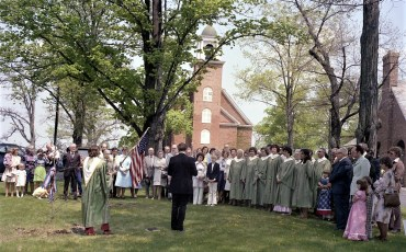 Claverack Reformed Church planting Bicentennial Tree 1976