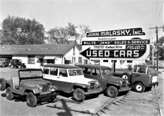 John Malasky Jeep Sales & Service Rt. 23 Claverack Oct. 1957