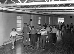 Roller Skating at the Churchtown Firehouse 1960 (1)