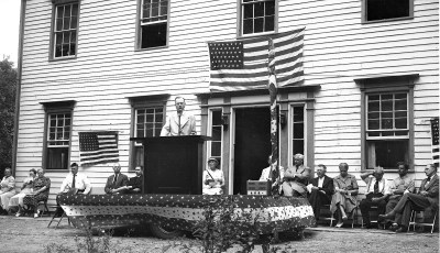 Dedication of Academy and Plaque Honoring WWI & II  Vets Clermont 1949 (1)